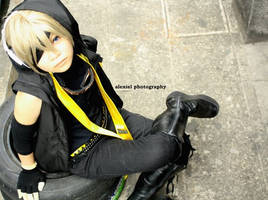 vocaloid: biker len_2 by Luckychannel