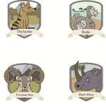 Extinct Animals Badges