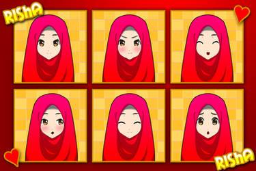 Risha expression by Crowmaru