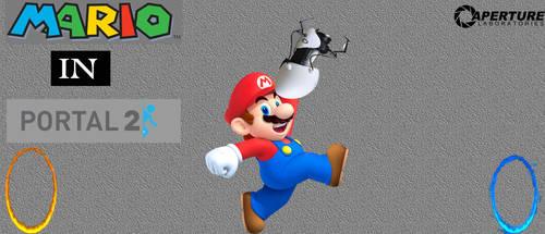 Mario-in-portal by soniclvr