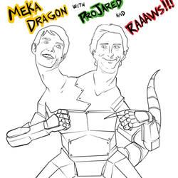 MEKA DRAGON! Starring ProJared and RAAAAAAWSS! by SirDukeLord