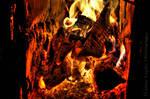 Burning Wood HDR