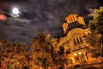 Church at Night HDR