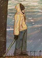 [art trade] rain woooo by fishgrin