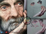 Old Man Hyper Real Oil Painting By AliBeigiArt