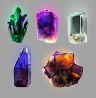 crystals by TanyaLia