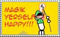 Magik Yerself Happy Stamp by dinshino