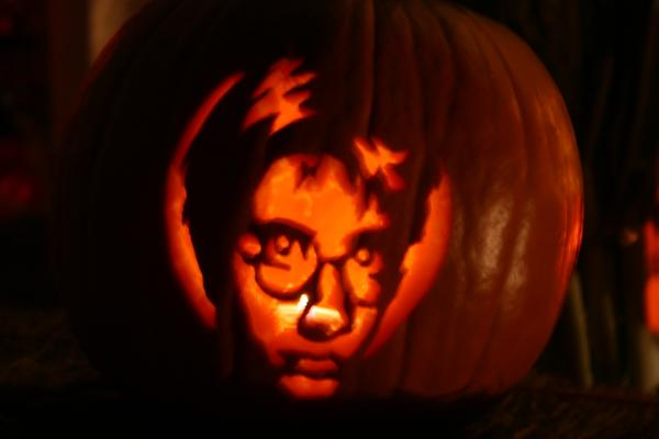 Harry Potter Carving by V-Babe007