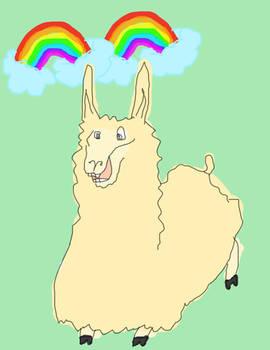 double rainbow Llama. YAY