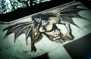 WHEATPASTE: Manananggal by GerilyaGallery