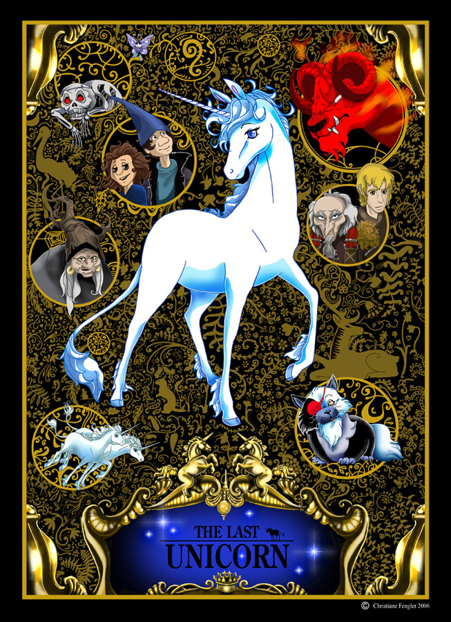 Le fan club des Licornes - Page 2 The_last_unicorn_Cover_by_chrissi_dinos