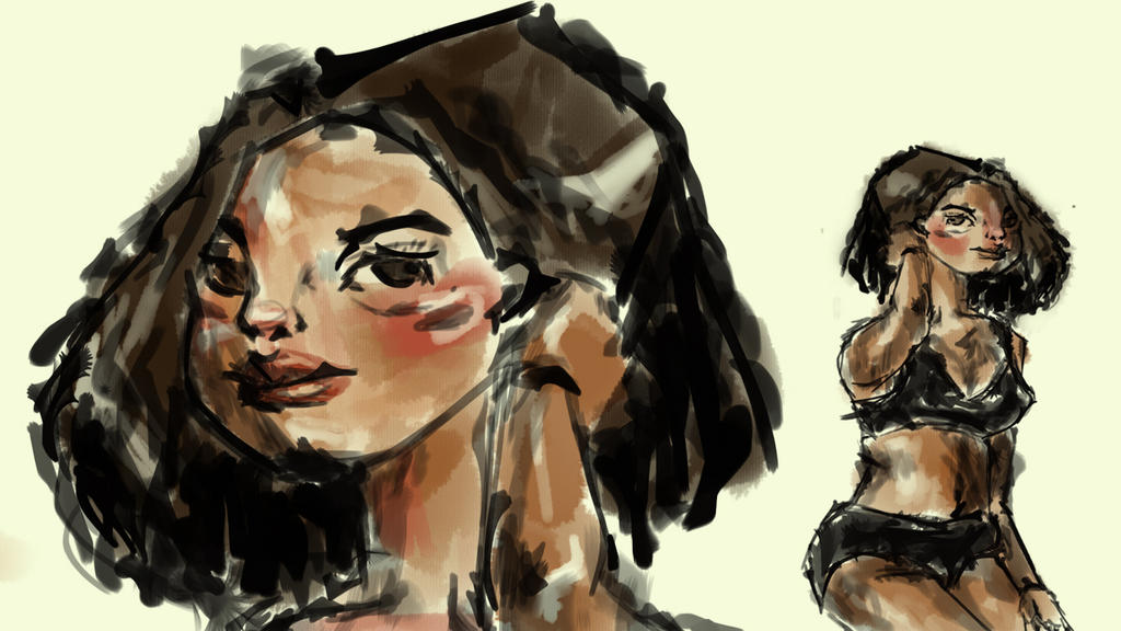 Girl From My new Brush with beautiful bodies by froykanok