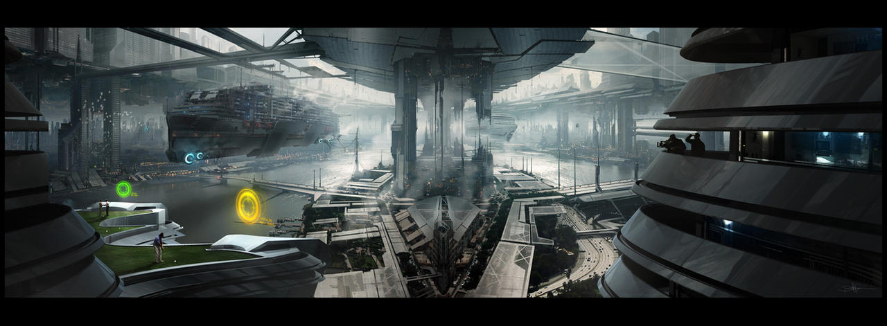 Like In A Futuristic Dream By Grivetart On DeviantArt