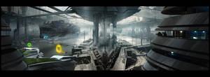 Like in a futuristic dream by Grivetart