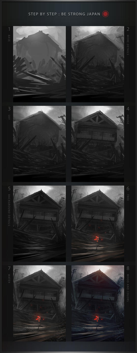 Step-by-Step: Be Strong Japan by Grivetart