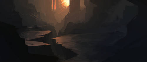 Environment Speed Painting 1 by Grivetart