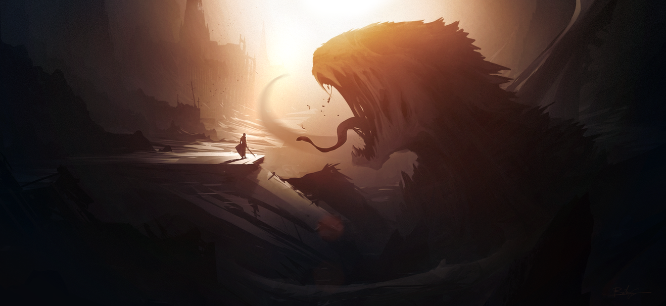 Man and Monsters... by Grivetart