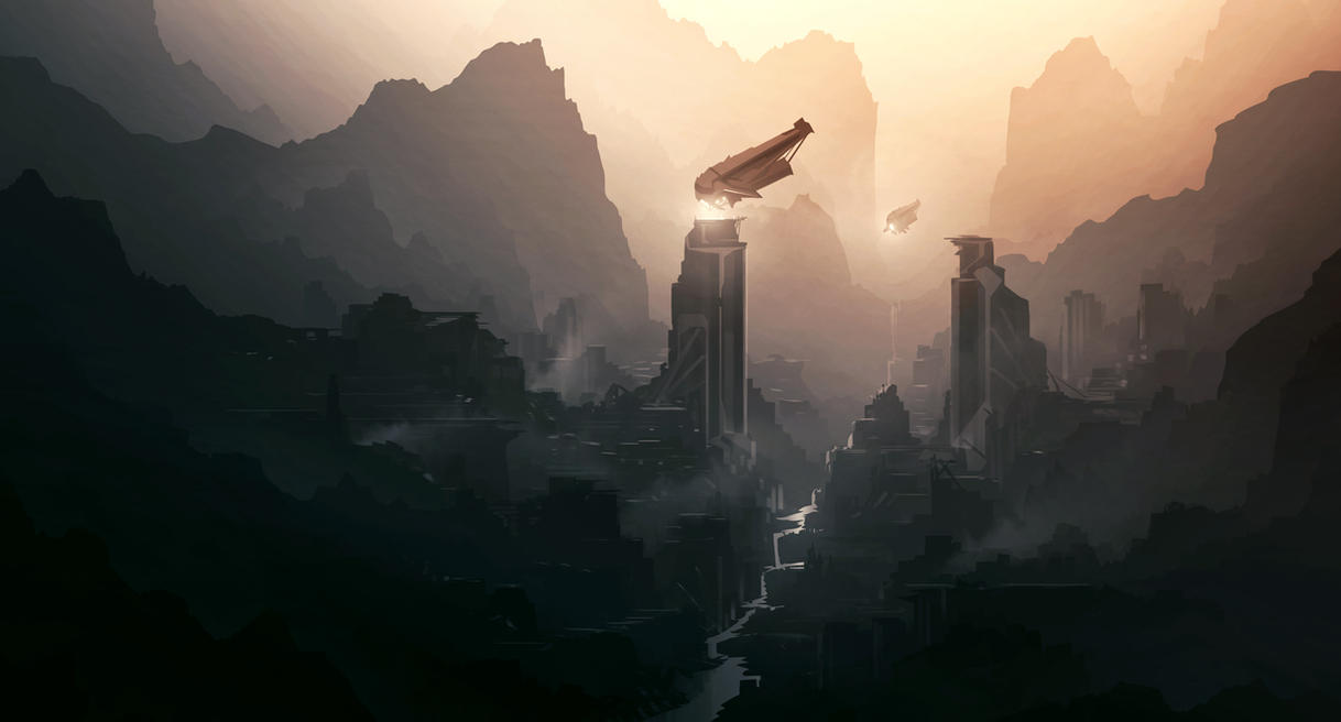 Sci fi digital painting i by grivetart on deviantart for Buy digital art online