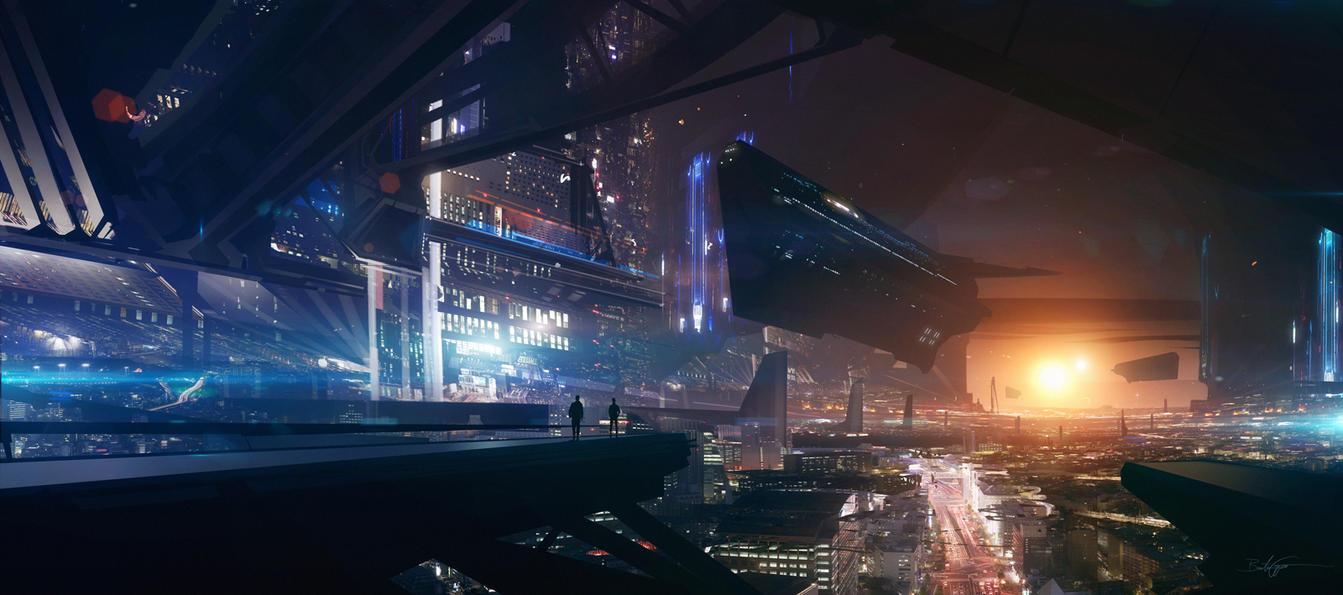 Big Sun City by Grivetart