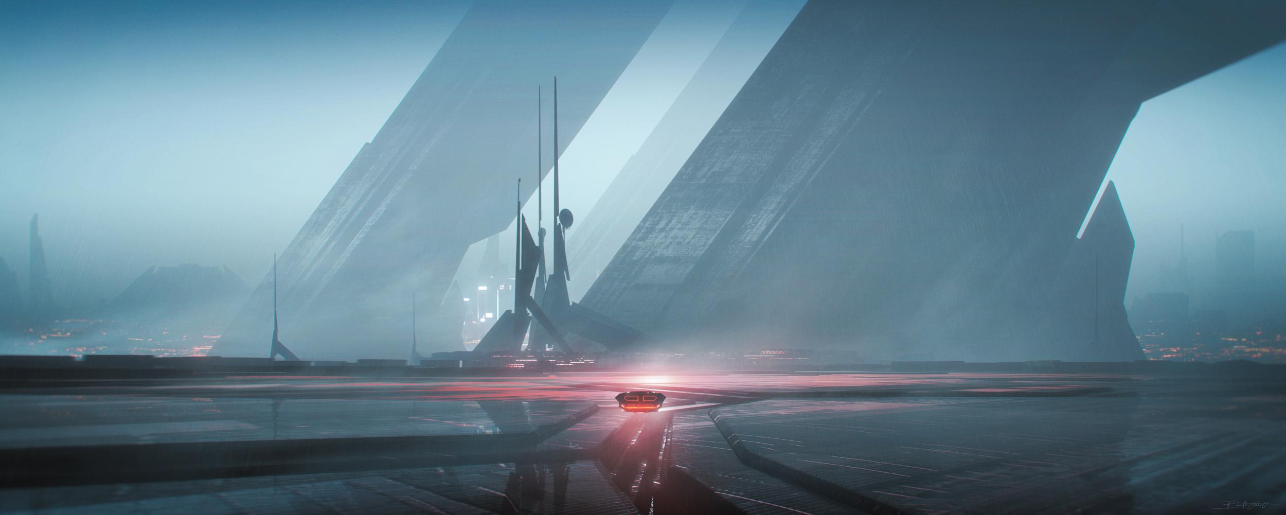 Blade Runner 2049 Tribute 3 By Grivetart 2500x1000 Wallpapers