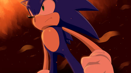 Sonic in the Flames