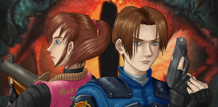 Resident Evil 2 Leon and Claire