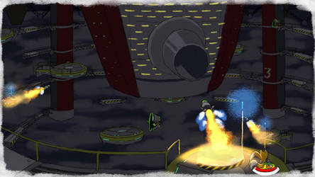 Tails Sky Deck Cannon - SA1 Remake Fan Concept Art