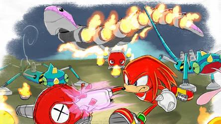 Knuckles Enemies - SA1 Remake Fan Concept Art