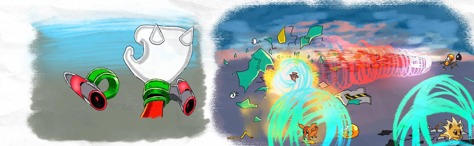 Thruster Cuffs - SA1 Remake Fan Concept Art