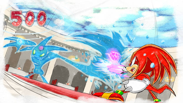 Knuckles Chaos Fights - SA1 Remake Fan Concept Art