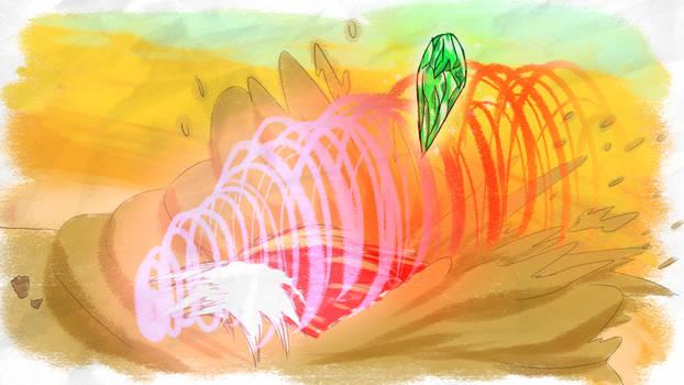 Knuckles Sand Mounds - SA1 Remake Fan Concept Art