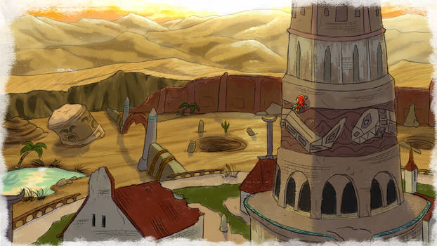 Knuckles' Sand Hill - SA1 Remake Fan Concept Art