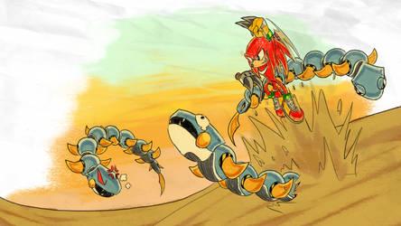 Knuckles Dig Enemies - SA1 Remake Fan Concept Art