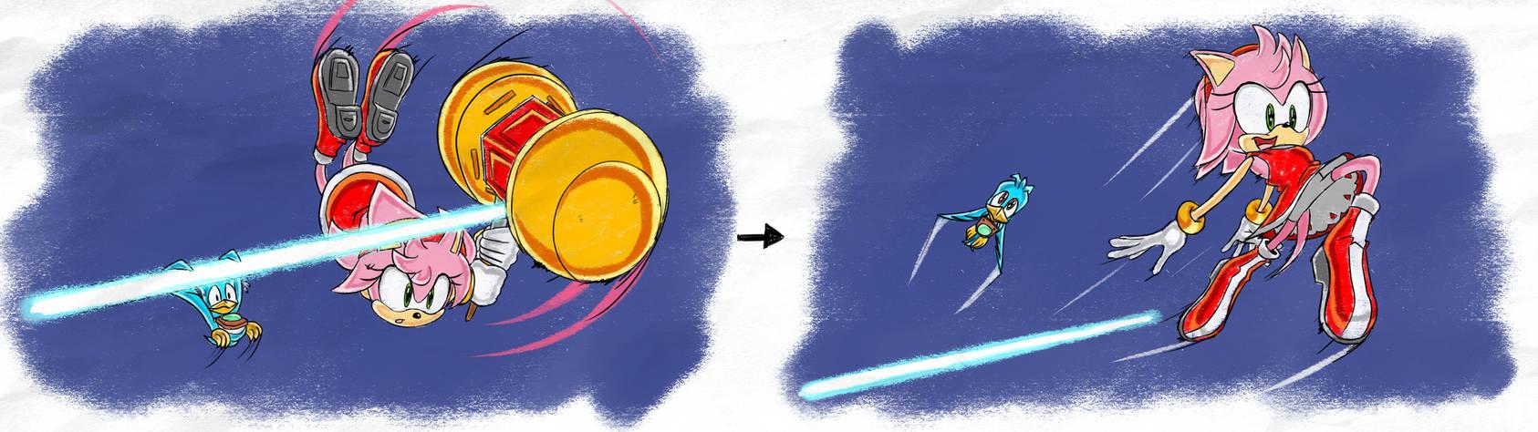 Amy Acrobatics - SA1 Remake Fan Concept Art