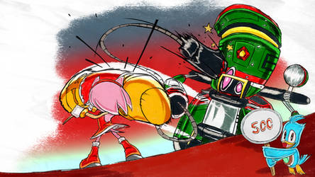 Zero Hammer Deflect - SA1 Remake Fan Concept Art
