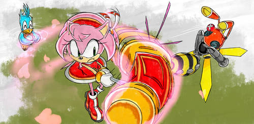 Amy's Warrior Feather - SA1 Remake Fan Concept Art
