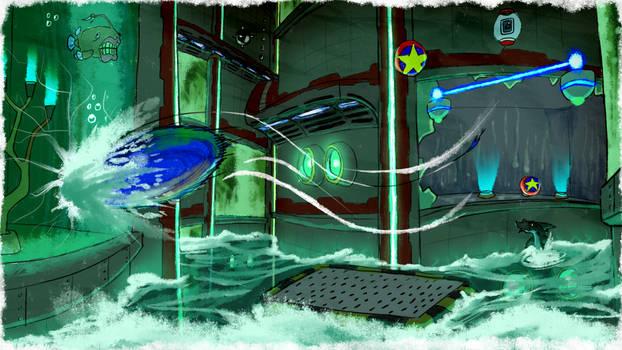 Big's Hot Shelter - SA1 Remake Fan Concept Art