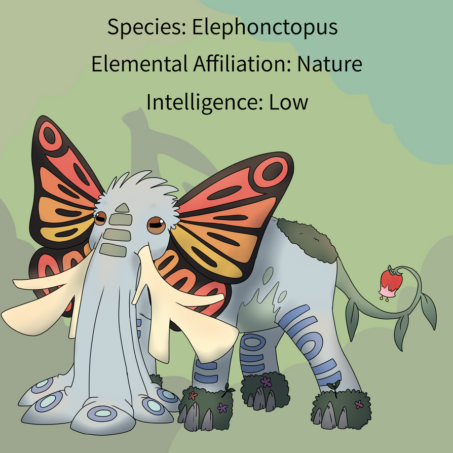 Elephonctopus Reference Sheet by EeveesAndDragons