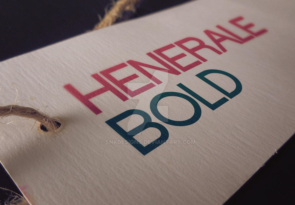 NEW Font- Henerale Bold by snkdesigns