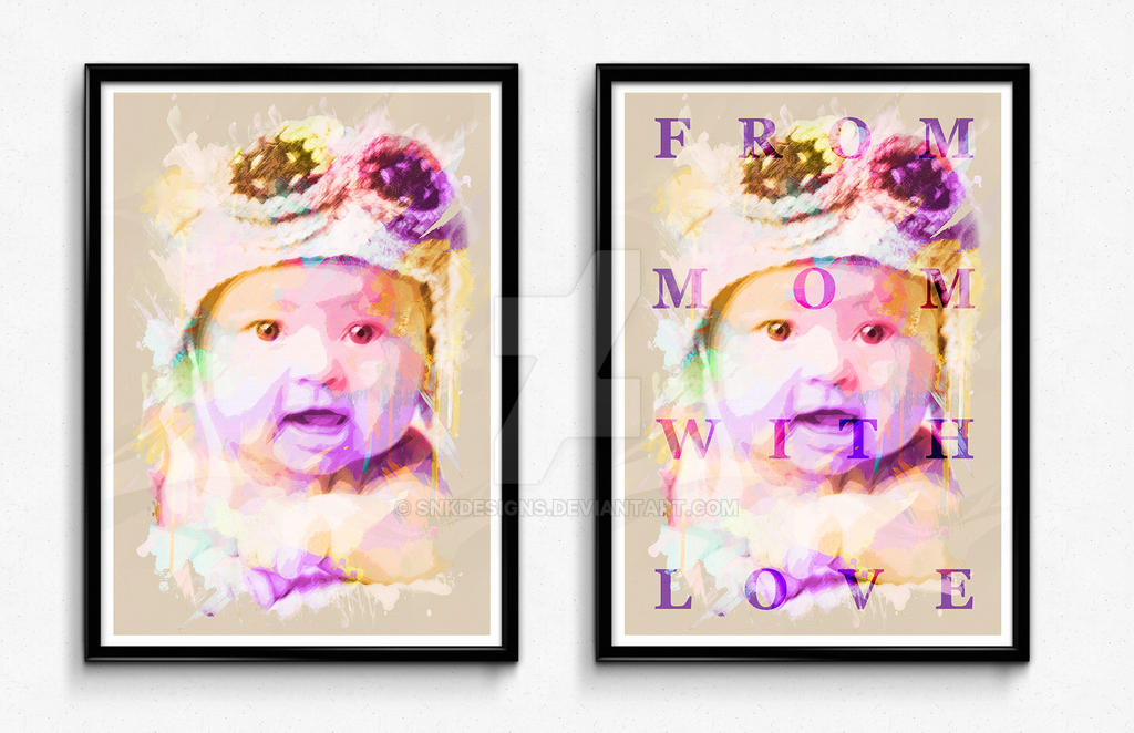 Watercolor Potrait Frame by snkdesigns