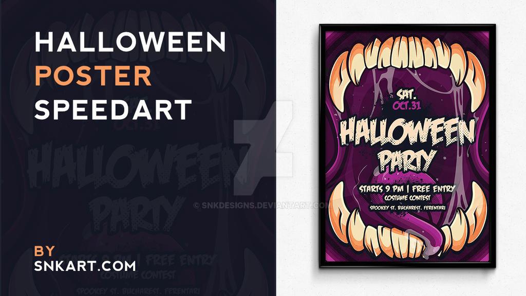 Halloween Poster Speedart by snkdesigns