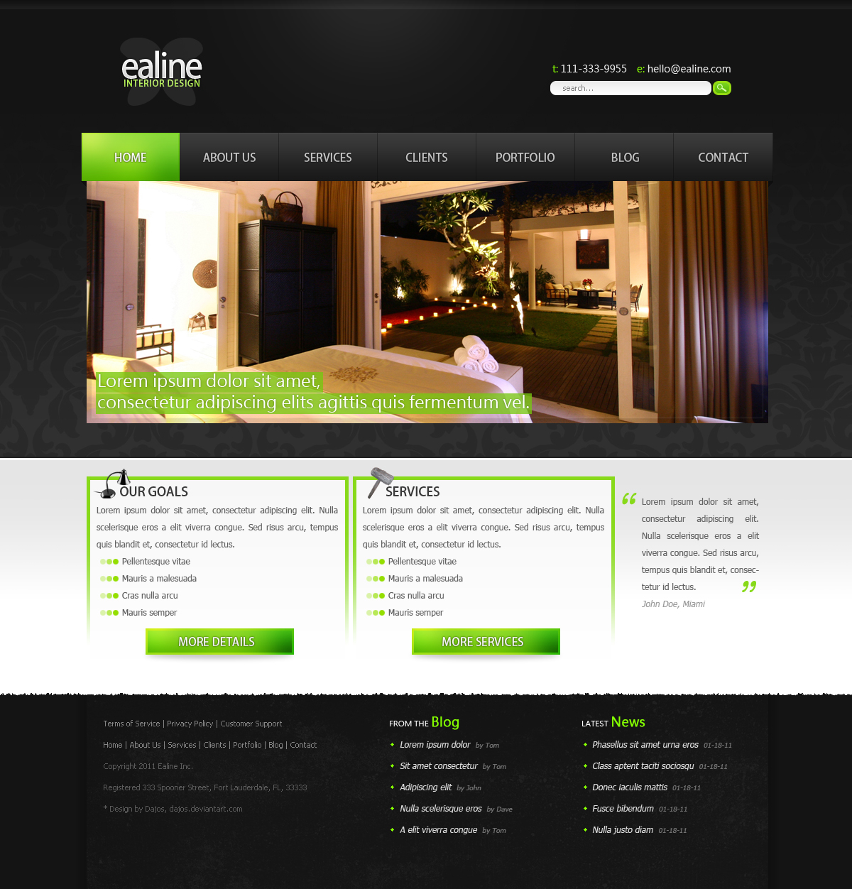 Ealine interior design web by dajos on deviantart for Interior designs website