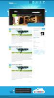 Portfolio and Blog Design v2 by dajos