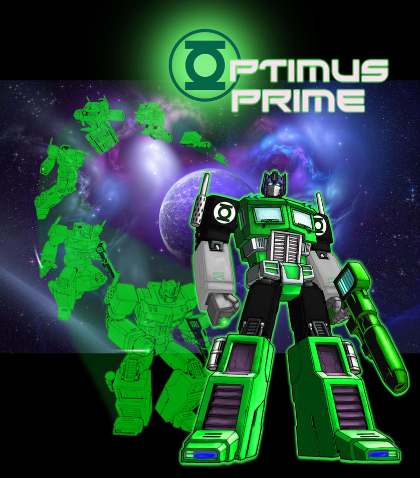 Optimus Prime Green Lantern by Optimus77463