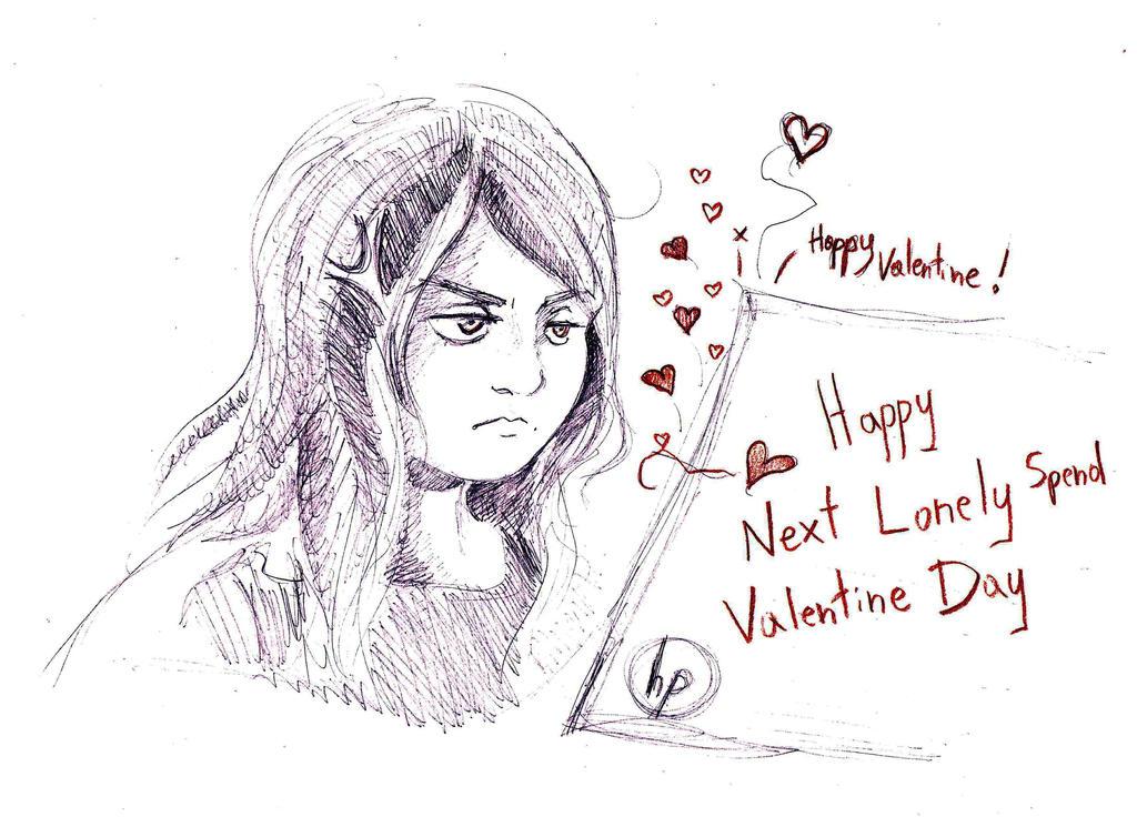 happy next lonely spend Valentine Day by Nebrija