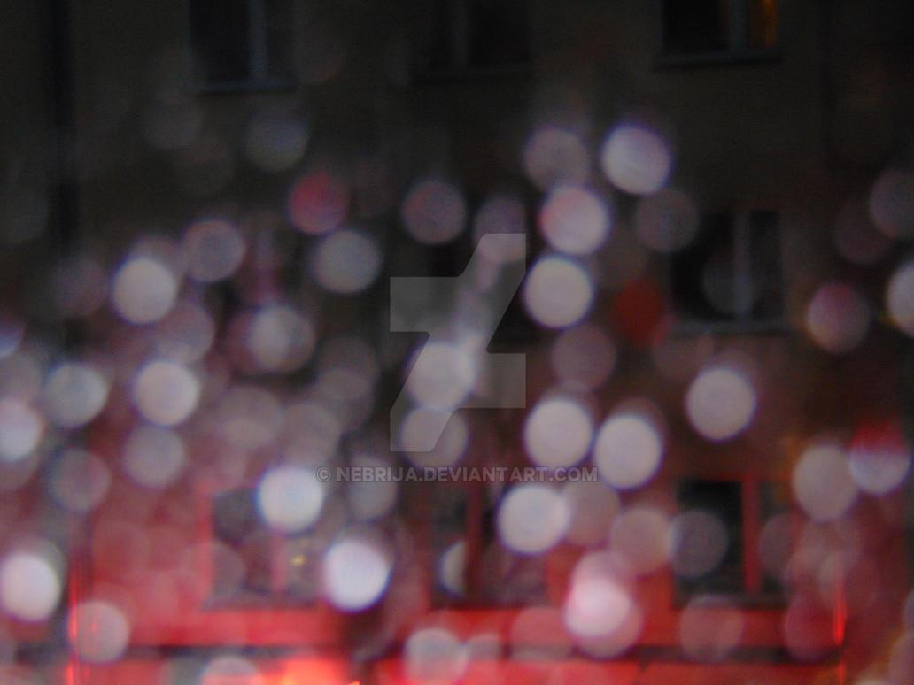 Bokeh streetlights at night by Nebrija