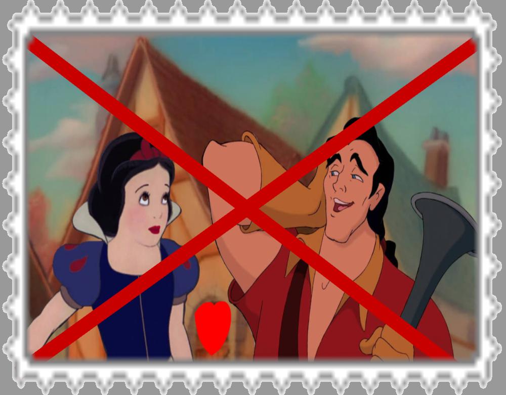 anti gaston x snow white stamp