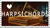 Harpsichord Stamp by ItsBlackorWhite