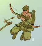 Green Arrow Spionek