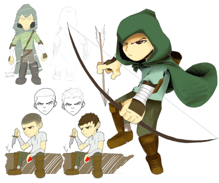 Character Design Competition 2014 : Character design contest archer by leecheezy on deviantart